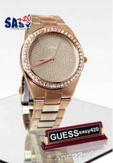 Guess U11663L1 Rose Gold Dial Stainless Steel Bracelet Women Watch New