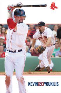 Kevin Youkilis Dual Action 2012 Boston Red Sox MLB Baseball Poster