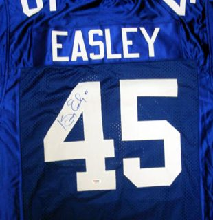 Kenny Easley Autographed Signed Seattle Seahawks Blue Jersey PSA DNA