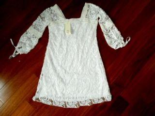 Solitaire by Ravi Khosla Ivory Lace Dress Sz S