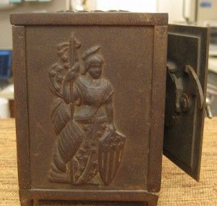 1891 Vintage Cast Iron Bank of Columbia Safe Bank by Arcade MFTG Co