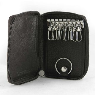 Osgoode Marley Mens Black 8 Hook Zip Key Case Wallet