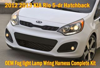2012 Kia RIO5 Hatchback Fog Light Lamp Cover Wiring Harness Complete