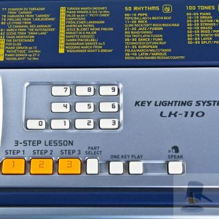 Casio LK 110 Electronic Keyboard Key Lighting MIDI
