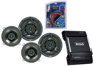 Kicker Car Audio Package DS650 100W 6 5 Speaker Pairs with Boss CE404