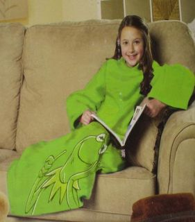 New Youth Snuggie Kermit The Frog Blanket Muppet Movie Kids Boy Girl