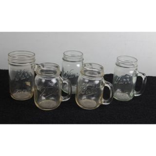 Lot Vintage Kerr Ball Mason Drinking Jars 16 oz 20 oz Wide Mouth Beer