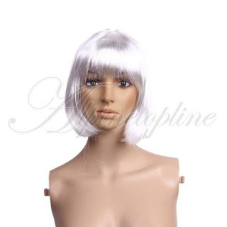 Short Bob Cut Wig Costume Cosplay Party Full Wig Fancy Dress Up