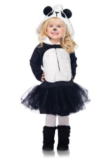 Playful Panda Hooded Petticoat Dress Kids Halloween Costume New