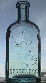 Medicine Bottle Lords Opodeldoc w Pic Man Breaking Crutches