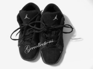 Jordan Team Elite Boys Kids Black Athletic Sport Tennis Shoe Size 5