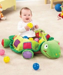 Plush Turtle Ball Pit Includes 25 Balls and Lots of EXTRAS Great Gift