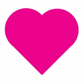 Hot Pink Heart Photo Cut Out