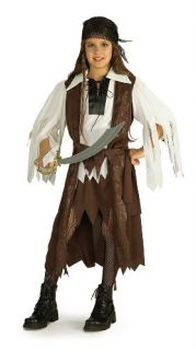 Caribbean Pirate Queen Child Costume Size Large 12 14 Rubies 881093 LG