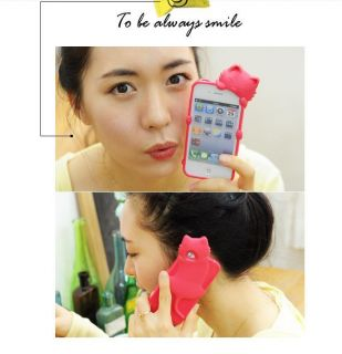 Genuine Kitty KiKi Cat Soft Silicone Rubber Back Case Cover for iPhone