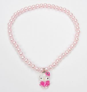 Kitty Necklace Bracelets Ring 3 Pieces Sets Children Jewelry 11