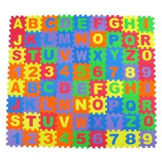 Alphabet Letters & Numbers Educational Foam Puzzle Floor Mat for Kids