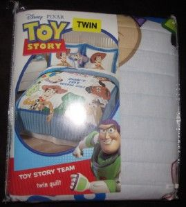 KIDS BEDDING 2PC SET TWIN QUILT PILLOW SHAM Pixar Disney TOY STORY