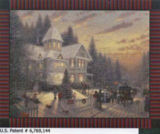 Thomas Kinkade Victorian Christmas Panel Fleece Fabric