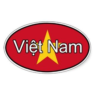 Vietnam Flag Euro Sticker