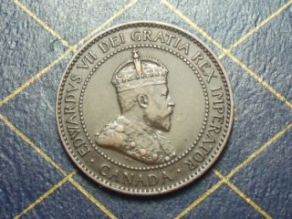 1907H Canadian Large Penny King Edward VII Key Date Lot 28
