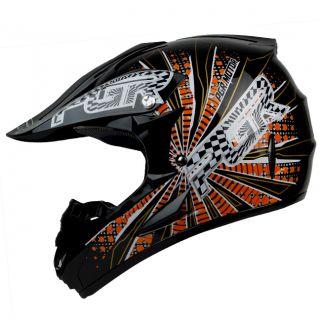 x25 Vortex Black Red MX Off Road Kids Bike Buggy x Game Helmet