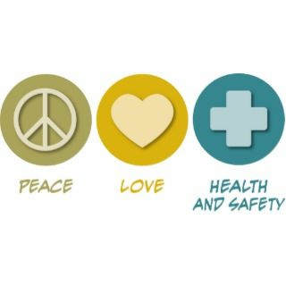 Peace Love Health and Safety Acrylic Cut Out