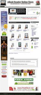 Very Popular Kindle Nook eReader Website Business for Sale