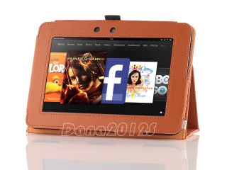 For  Kindle Fire HD 7 Leather Case Cover Screen Protector