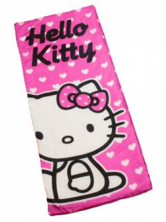 Hello Kitty Hearts Kids Sleeping Bag Camping Travel Sleepover Sac