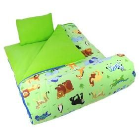 Olive Kids Wild Animals Sleeping Bag Childrens Camping 66 Blanket