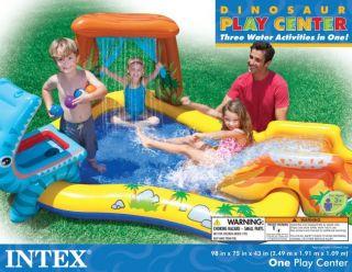 Intex Dinosaur Play Center Inflatable Kids Set Swimming Pool