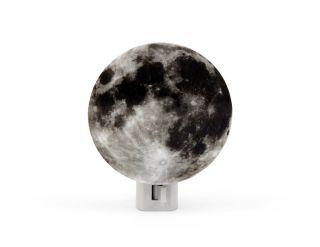 Kikkerland Moon Night Light 3D Printed Design 7 Watt Bulb Included