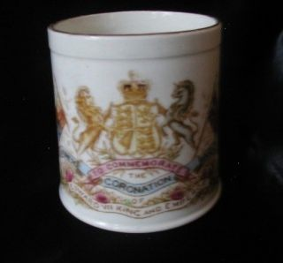 Commemorative Coronation Mug King Edward VII 1902