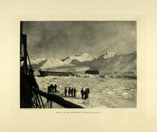 1929 Photogravure Kings Bay Norway Polar Sea Expedition Mountain
