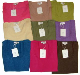 100 Cashmere Kinross Womens Sleeveless Sweater Vest Tank Top Scoop