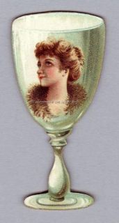 Kinney N228 Goblet Girl Fridge Magnet frm Tobacco Card
