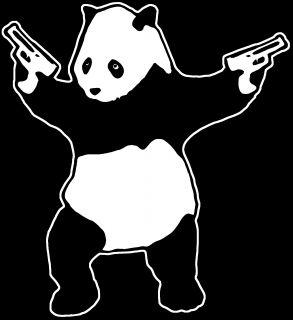 Killer Panda T Shirt Graffiti Bear Guns