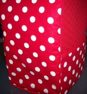 Red Polka Dot Quilted Fabric Cover for KitchenAid Mixer New