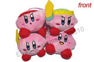 "New Super Mario (Kirby) Plush Figure Toy 3"" 4pcs"