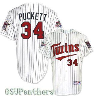 Kirby Puckett 1987 Minnesota Twins World Series Home Jersey Mens Sz M