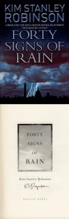 Kim Stanley Robinson Signed Autographed Forty Signs of Rain 1st Ed