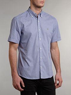 Lacoste Short sleeved mini gingham shirt Blue