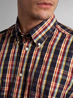 Barbour Short sleeved bright check shirt Navy