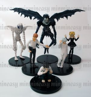 Death Note Figure L Yagami Light Ryuk Near Kira Misa X6