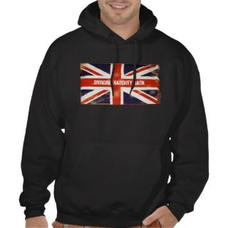 Bringing NAUGHTY Back Vintage Union Jack Hoodie