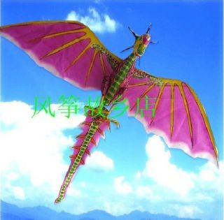 3D Handmade Jurassic Flying Dragon Dinosaur Pink Kite