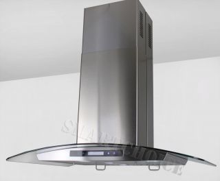 36 Kitchen Island Mount Stainless Steel Range Hood w 2 Filters Vent s