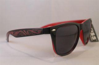 Kiss Brand Two Tone Wayfarer Sunglasses Total Rave Party Sunglasses