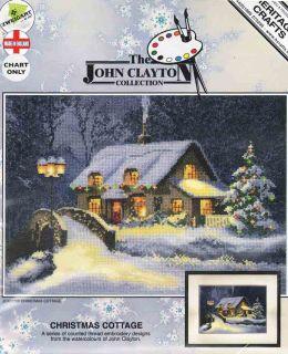 Heritage John Clayton Counted Cross Stitch Chart Christmas Cottage
